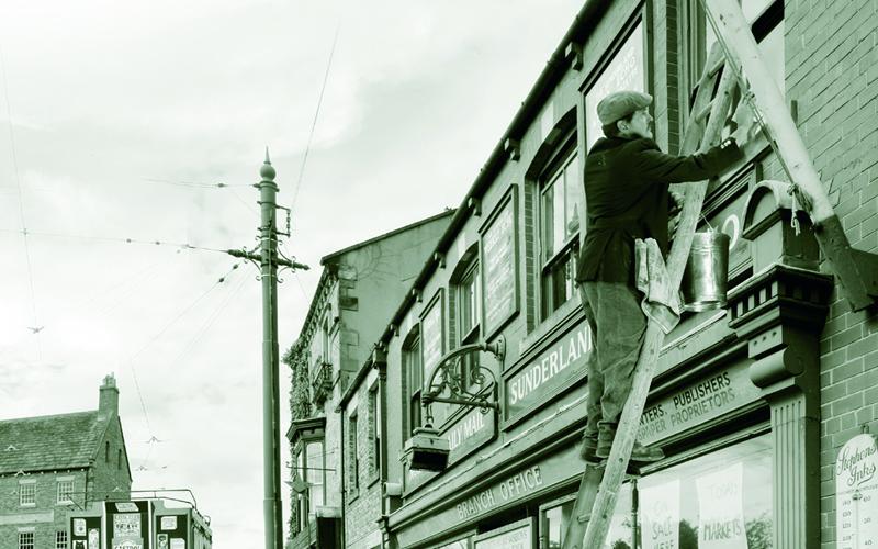nettoyage de vitres en 1950